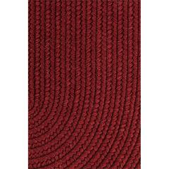 "Solid Barn Red Wool 18"" x 36"" Slice"