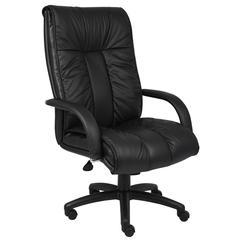 Boss Italian Leather High Back Executive Chair W/ Knee Tilt