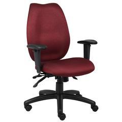 Boss Burgundy High Back Task Chair W/ Seat Slider