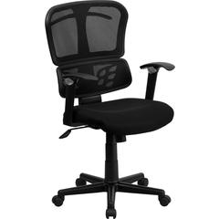 Mid-Back Black Mesh Chair with Conforming Lumbar Support