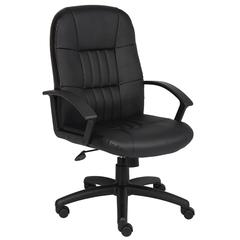 Boss Black Leather High Back Chair