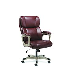 Executive Chair | Fixed Arms | Brown Leather