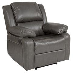 Gray Leather Recliner