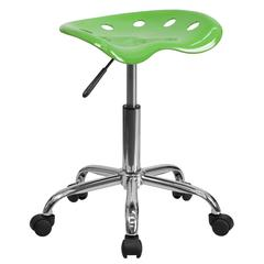 Vibrant Spicy Lime Tractor Seat and Chrome Stool