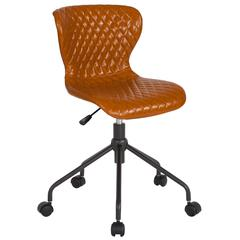 Home and Office Upholstered Task Chair in Saddle Vinyl