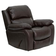 Brown Leather Rocker Recliner