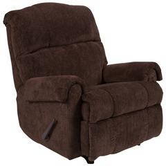 Contemporary Kelly Chocolate Super Soft Microfiber Rocker Recliner
