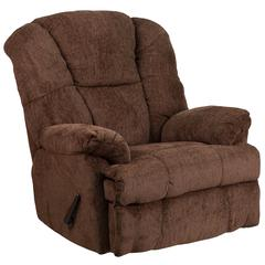 Contemporary Hillel Chocolate Chenille Rocker Recliner