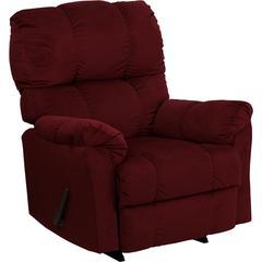 Flash Furniture Contemporary Top Hat Berry Microfiber Rocker Recliner