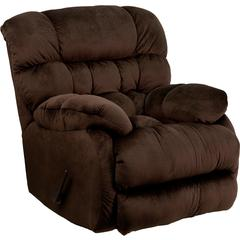 Flash Furniture Contemporary Sharpei Chocolate Microfiber Rocker Recliner
