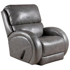 Contemporary Como Grey Leather Rocker Recliner