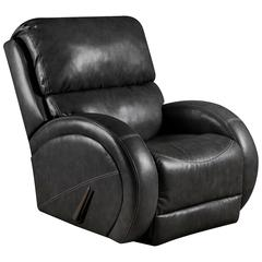 Contemporary Bentley Black Leather Rocker Recliner