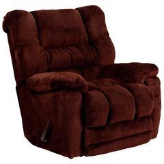 Flash Furniture Contemporary Temptation Merlot Microfiber Rocker Recliner