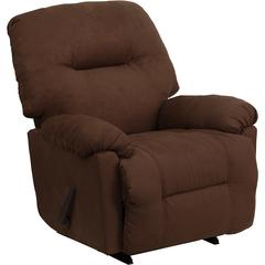 Flash Furniture Contemporary Calcutta Chocolate Microfiber Chaise Rocker Recliner