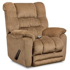 Flash Furniture Massaging Temptation Fawn Microfiber Rocker Recliner with Heat Control