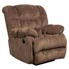 Flash Furniture Contemporary Columbia Mushroom Microfiber Power Recliner with Push Button
