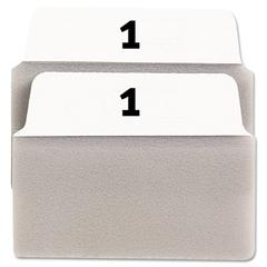 Avery NoteTabs Traditional Preprinted Index Tab - 2 Tab(s)/Set - 20 / Pack - White, Taupe Tab
