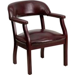 Oxblood Vinyl Luxurious Conference Chair
