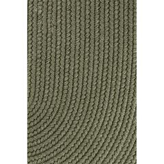 "Rhody Rug Solid Moss Green Wool 18"" x 36"" Slice"