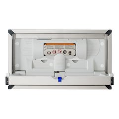 Foundations Recessed Stainless Clad Horizontal Baby Changing Station