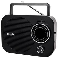 Portable AM/FM Radio with Aux Line-in (Black)