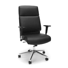 High Back Bonded Leather Manager Chair-Black