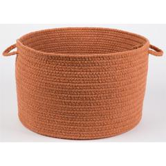 "Solid Terra Cotta Wool 18"" x 12"" Basket"