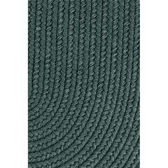 "Rhody Rug WearEver Teal Poly 18"" x 36"" Slice"