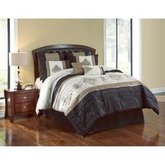 Blackmoore 8pc Queen Comforter Set, Black/Gold
