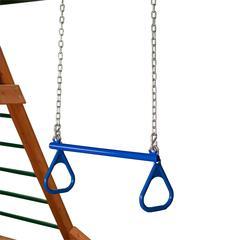 "21"" Trapeze Bar w/ Rings - Blue"