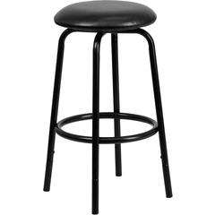 Flash Furniture Backless Black Metal DUAL Height Counter or Bar Stool with Black Leather Seat