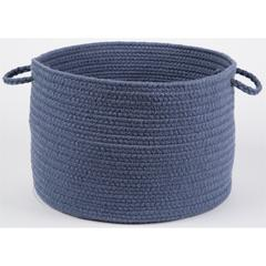 "Solid Sailor Blue Wool 18"" x 12"" Basket"