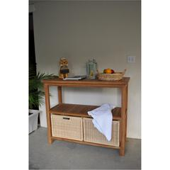 Towel Console w/ 2 Shelves Table