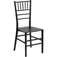 Flash Furniture Flash Elegance Black Resin Stacking Chiavari Chair