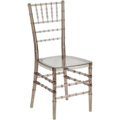 Flash Elegance Crystal Brown Stacking Chiavari Chair