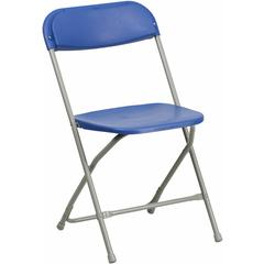 Flash Furniture HERCULES Series 440 lb. Capacity Premium Blue Plastic Folding Chair
