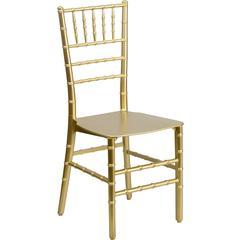 Flash Furniture Flash Elegance Gold Resin Stacking Chiavari Chair