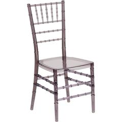 Flash Elegance Crystal Smoke Stacking Chiavari Chair