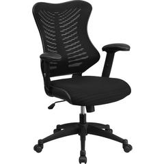 Flash Furniture High Back Black Designer Mesh Executive Swivel Office Chair with Mesh Padded Seat