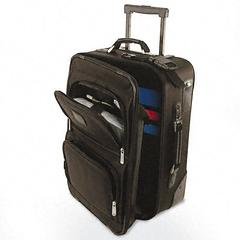 Bond Street, Ltd. Rolling Computer/Carry-On Case, Nylon, 14 x 9 x 21-1/2, Black