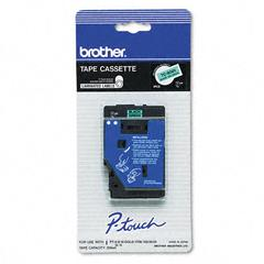 Brother P-Touch TC Tape Cartridge for P-Touch Labelers, 1/2w, Black on Green