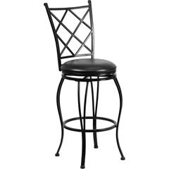 Flash Furniture 29'' Black Metal Bar Stool with Black Leather Swivel Seat