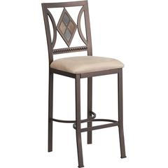Flash Furniture 29'' Brown Metal Bar Stool with Beige Microfiber Seat