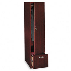 "Quantum QT288FCS Tall Storage Tower - 15.8"" Width x 23.1"" Depth x 67"" Height - 1 - 1 Door - Engineered Wood - Harvest Cherry, Laminate"