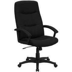 Flash Furniture High Back Black Fabric Executive Swivel Office Chair