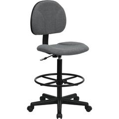 Gray Fabric Ergonomic Drafting Chair (Adjustable Range 22.5''-27''H or 26''-30.5''H)