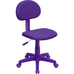 Flash Furniture Purple Fabric Ergonomic Swivel Task Chair
