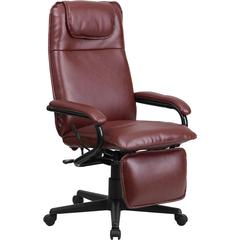 High Back Burgundy Leather Executive Reclining Swivel Office Chair