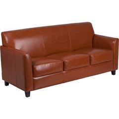 HERCULES Diplomat Series Cognac Leather Sofa