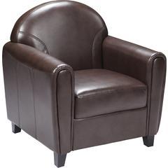 HERCULES Envoy Series Brown Leather Chair